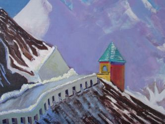 Austrian Alps - original oil on canvas - 18 x 24 - click here for a larger image (~39KB)