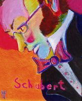 Schubert - original acrylic - 8 x 10 - click here for a larger image (~31KB)